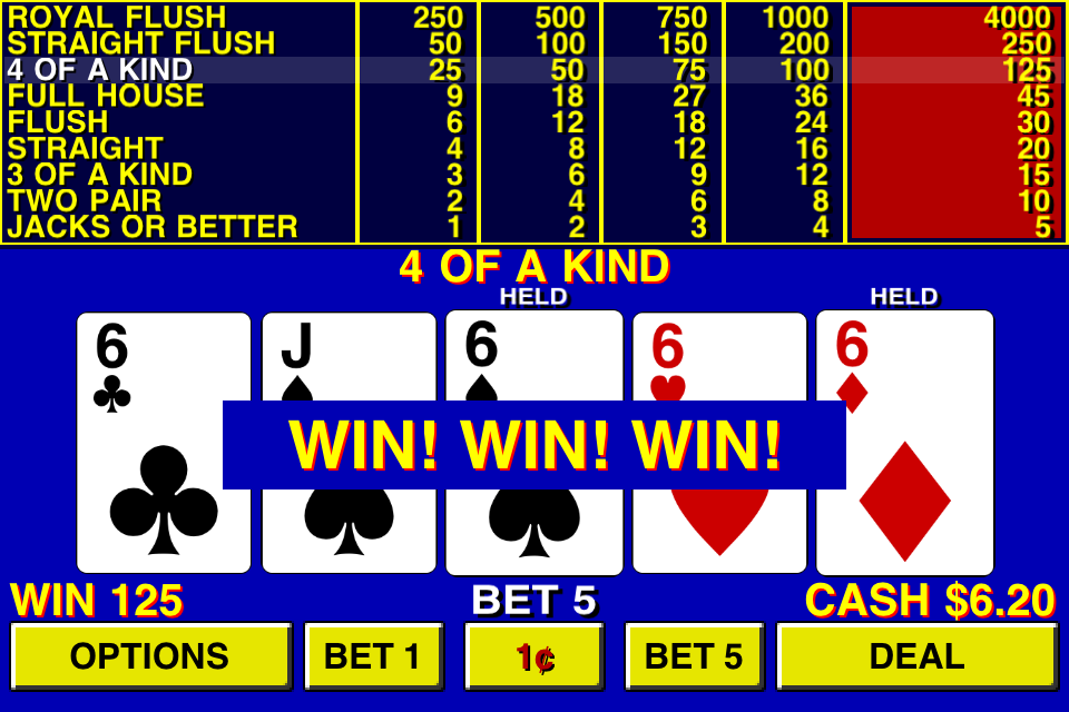 9 6 double bonus video poker