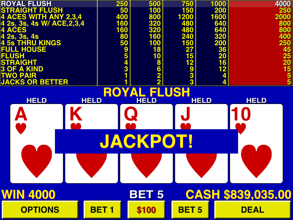 9/6 video poker machines