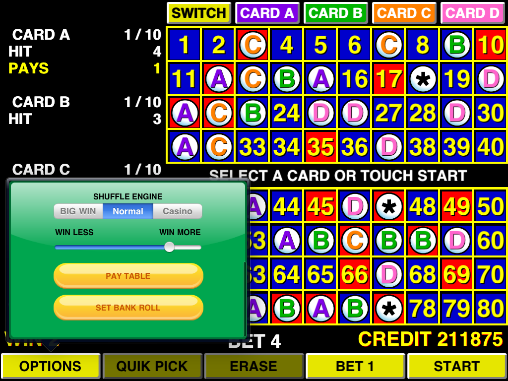 20 card keno free download